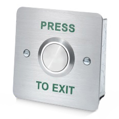 Stainless Steel Exit Button (+£11.91)